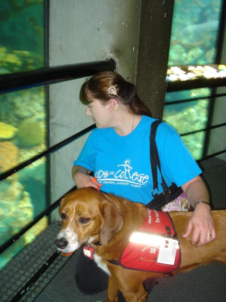 Denise and Chloe at the Aquarium in Baltimore Aug. 23, 2009