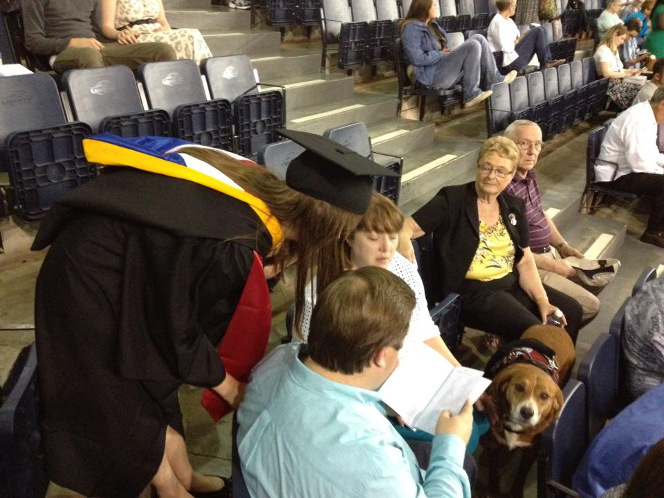 At my daughter's college graduation, May 11, 2013.