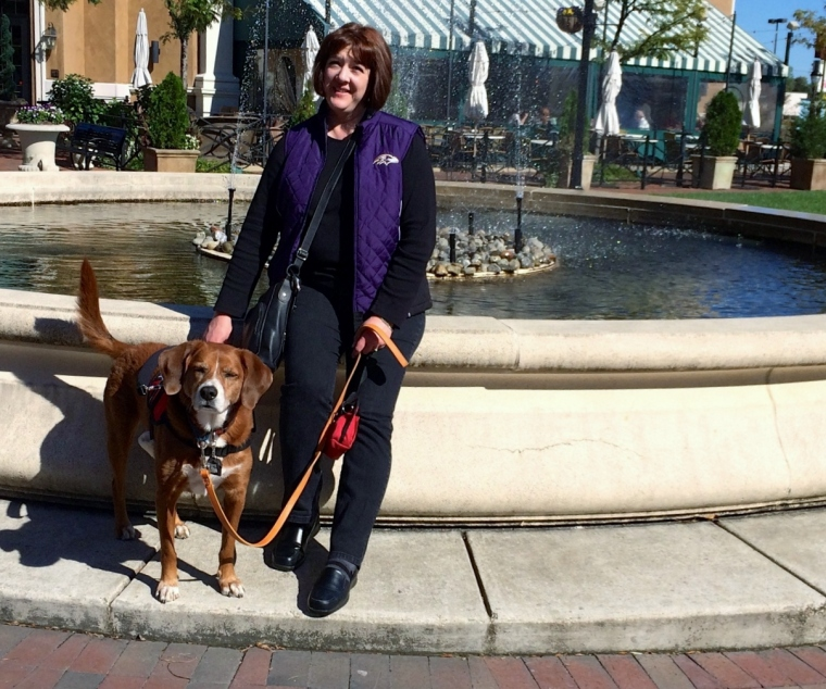 """I can clear out a crowded fountain area just by """"arriving"""". My wobble and service dog can put people off."""