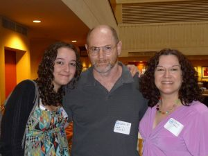 Wendi, husband Dave, and daughter Paige at a Hearing Loss Association Convention